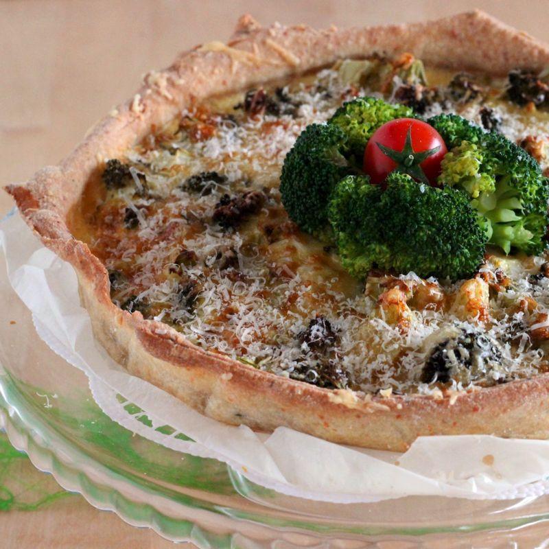 brokkoli quiche rezept biohof achleitner